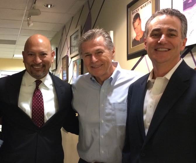 Deputy District Attorney Johnny Gogo, Radio Personality Sam Van Zandt, and County Supervisor Mike Wasserman