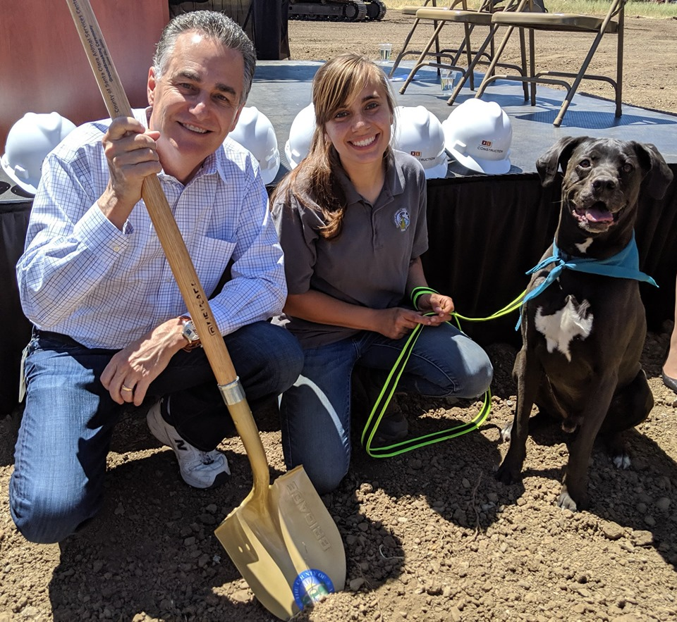 Supervisor Wasserman at Animal Services Center Groundbreaking
