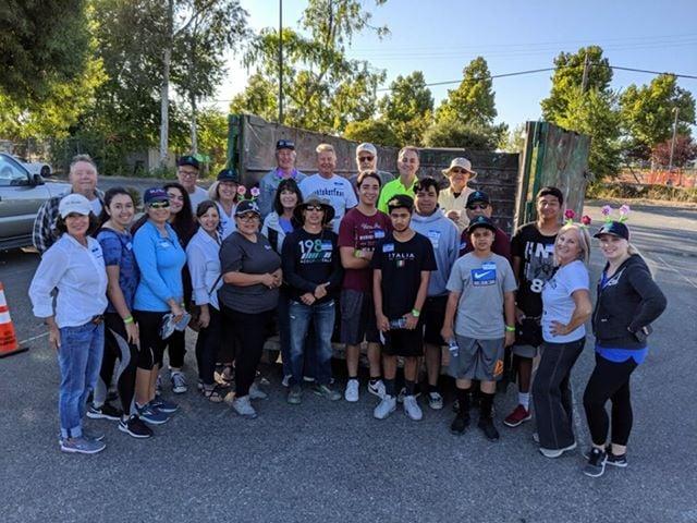 Volunteers at Trash Bash