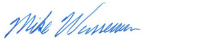 Mike Wasserman's signature