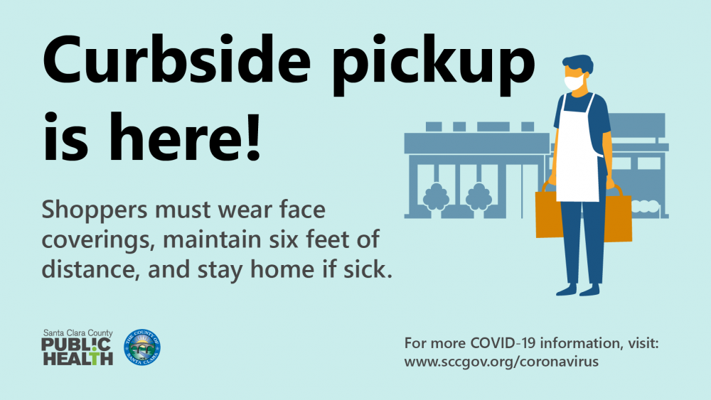 Curbside pickup is here! Shoppers must wear face coverings, maintain six feet of distance, ans stay home if sick.